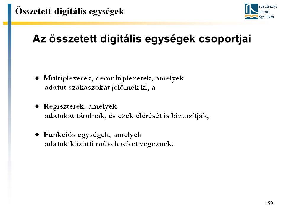 Az összetett digitális egységek csoportjai