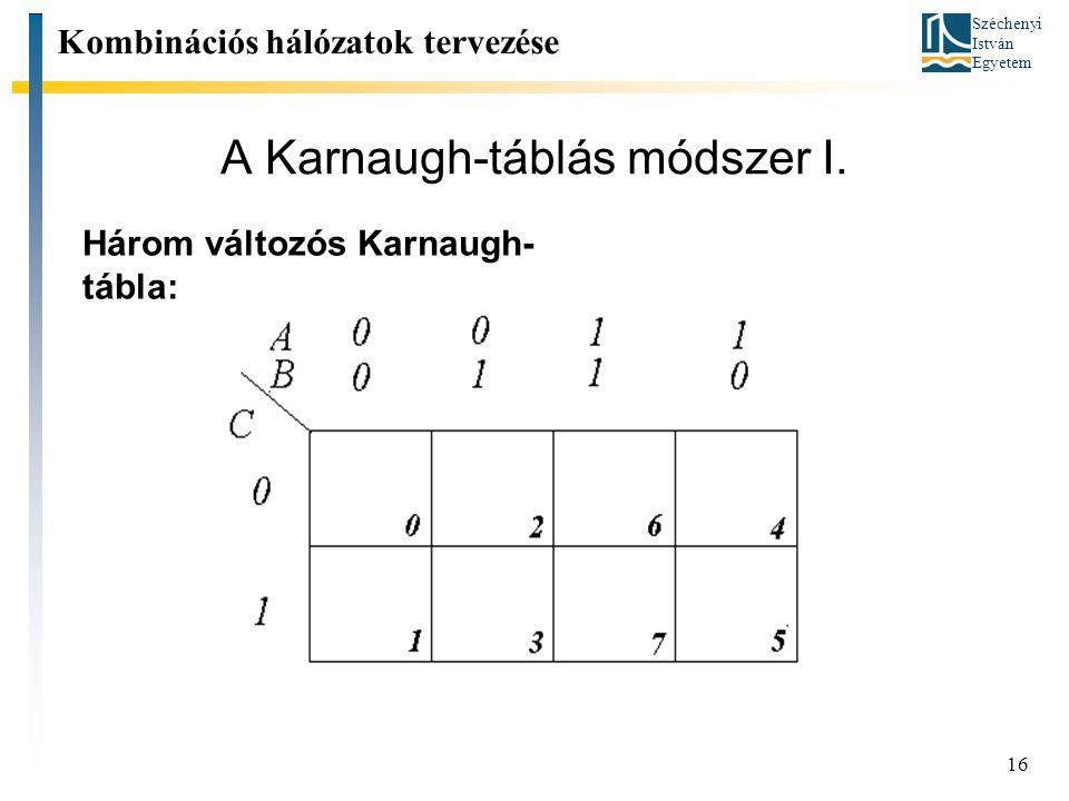 A Karnaugh-táblás módszer I.