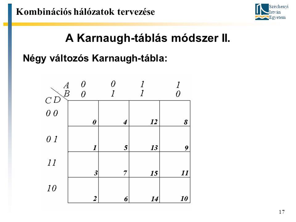 A Karnaugh-táblás módszer II.
