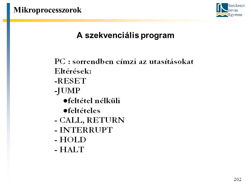 A szekvenciális program