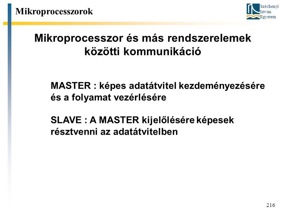 Mikroprocesszor és más rendszerelemek közötti kommunikáció