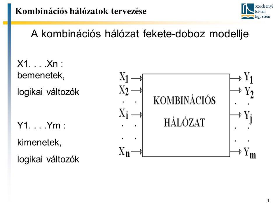 A kombinációs hálózat fekete-doboz modellje