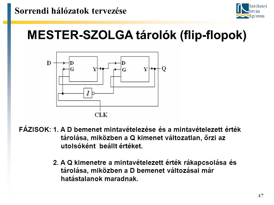 MESTER-SZOLGA tárolók (flip-flopok)