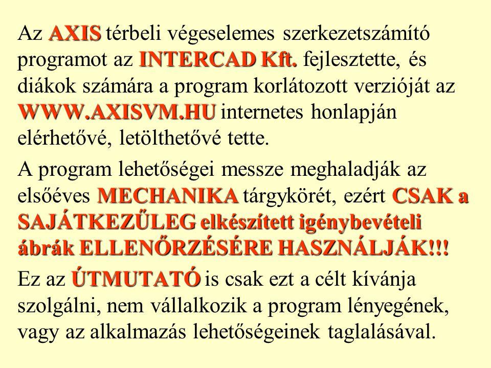 Az AXIS térbeli végeselemes szerkezetszámító programot az INTERCAD Kft