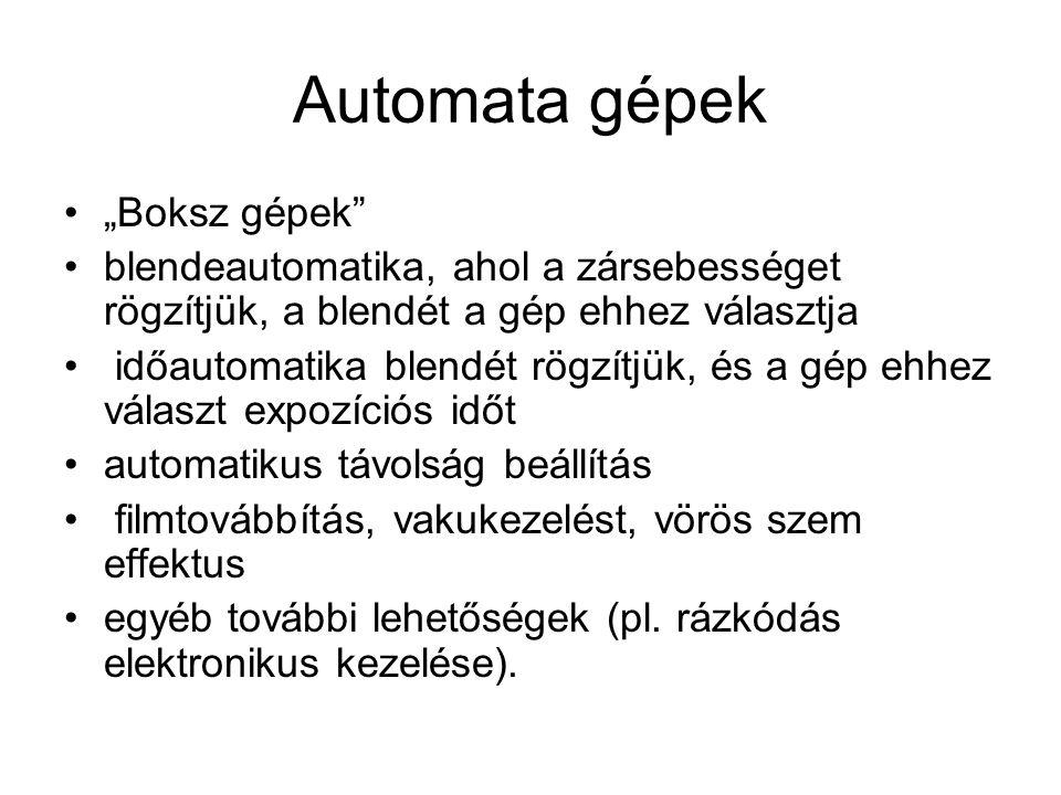 """Automata gépek """"Boksz gépek"""