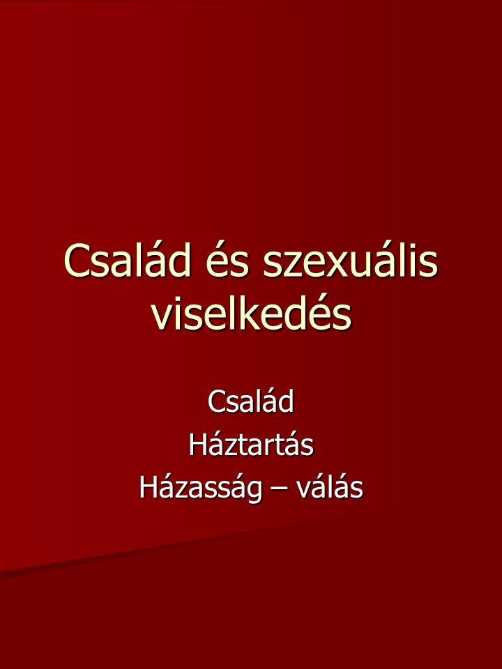Család és szexuális viselkedés