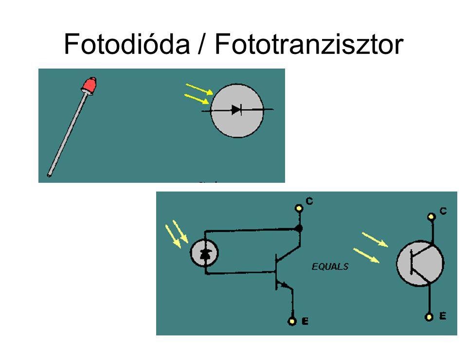 Fotodióda / Fototranzisztor