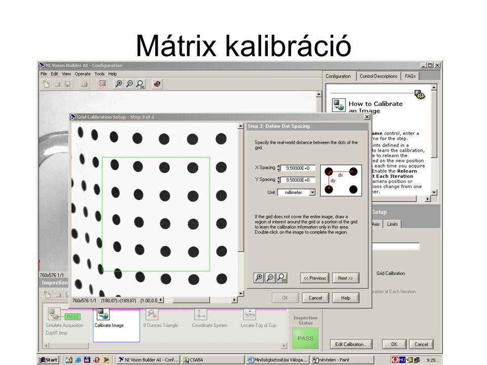 Mátrix kalibráció