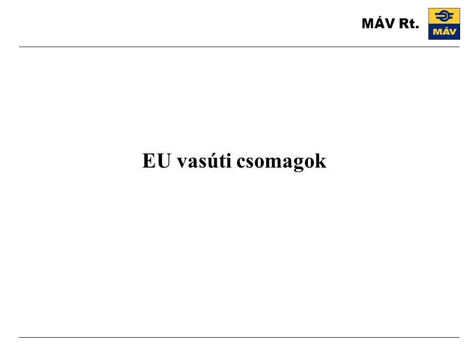MÁV Rt. EU vasúti csomagok
