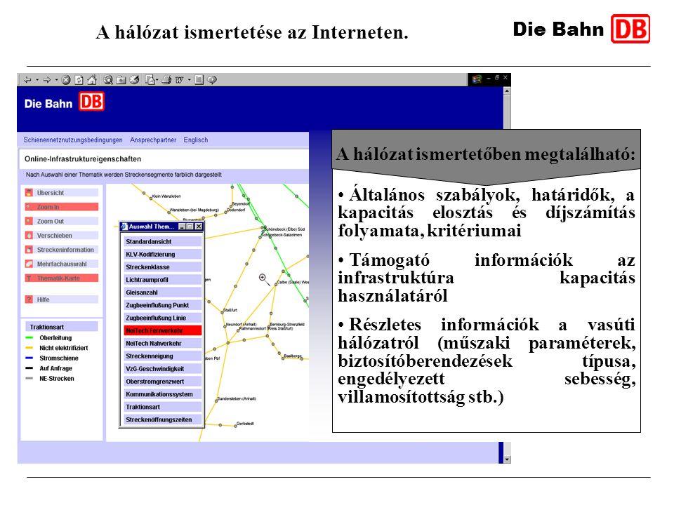 A hálózat ismertetése az Interneten.