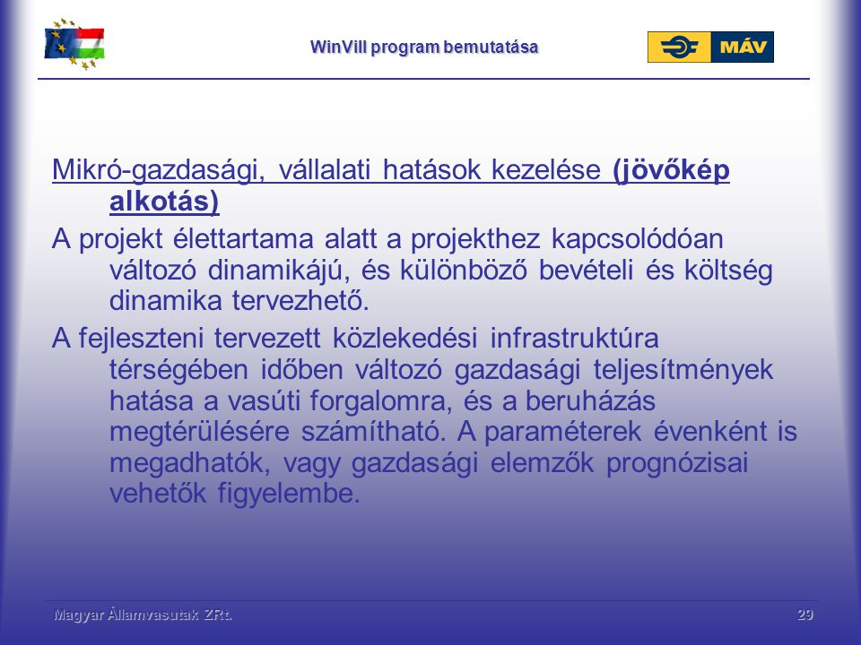 WinVill program bemutatása
