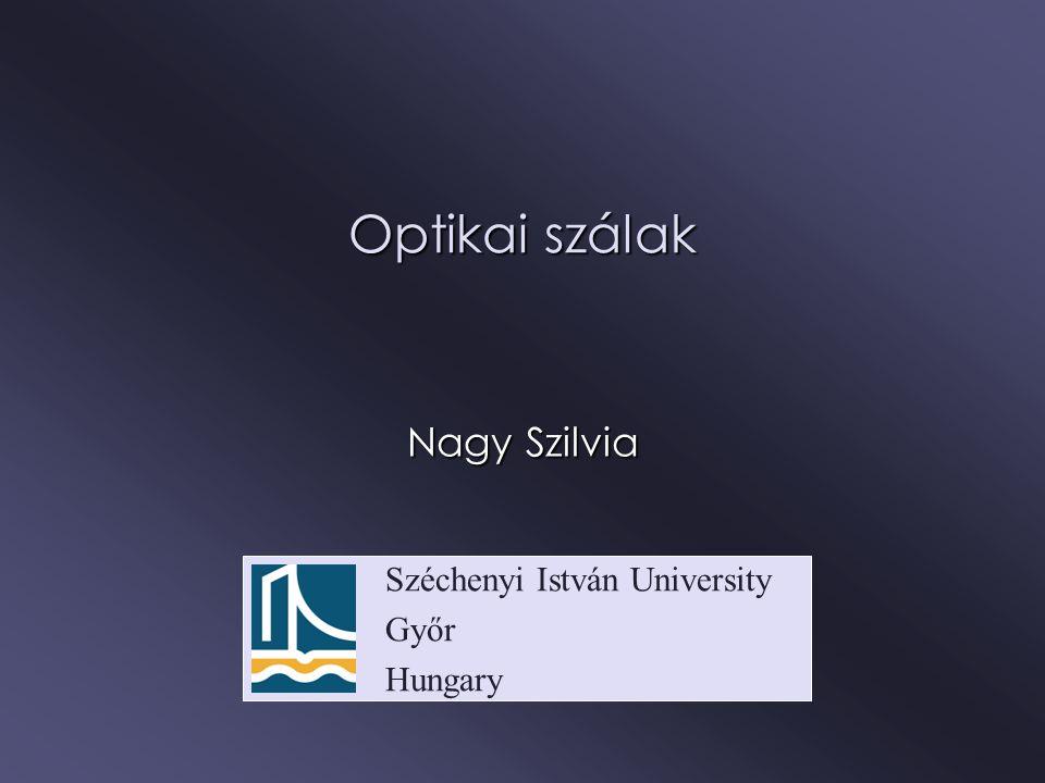 Optikai szálak Nagy Szilvia