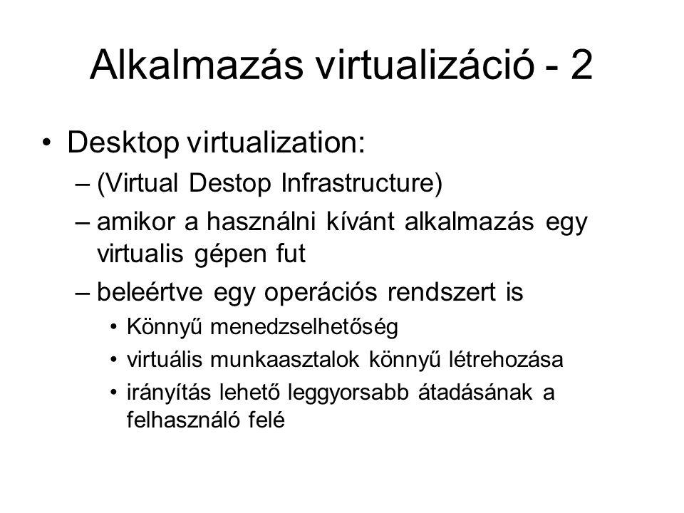 Alkalmazás virtualizáció - 2