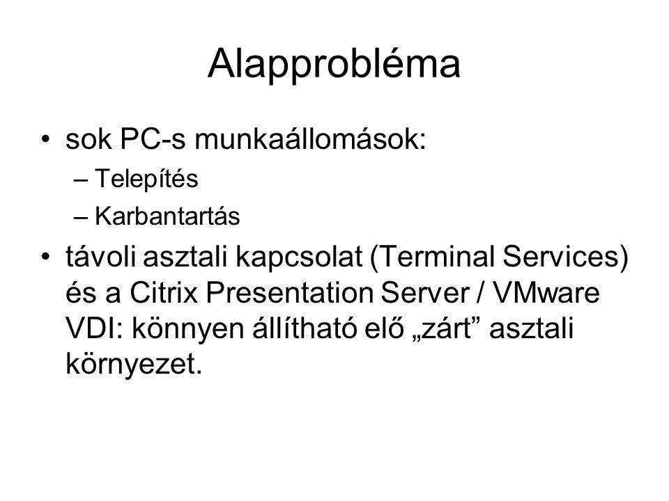 Alapprobléma sok PC-s munkaállomások: