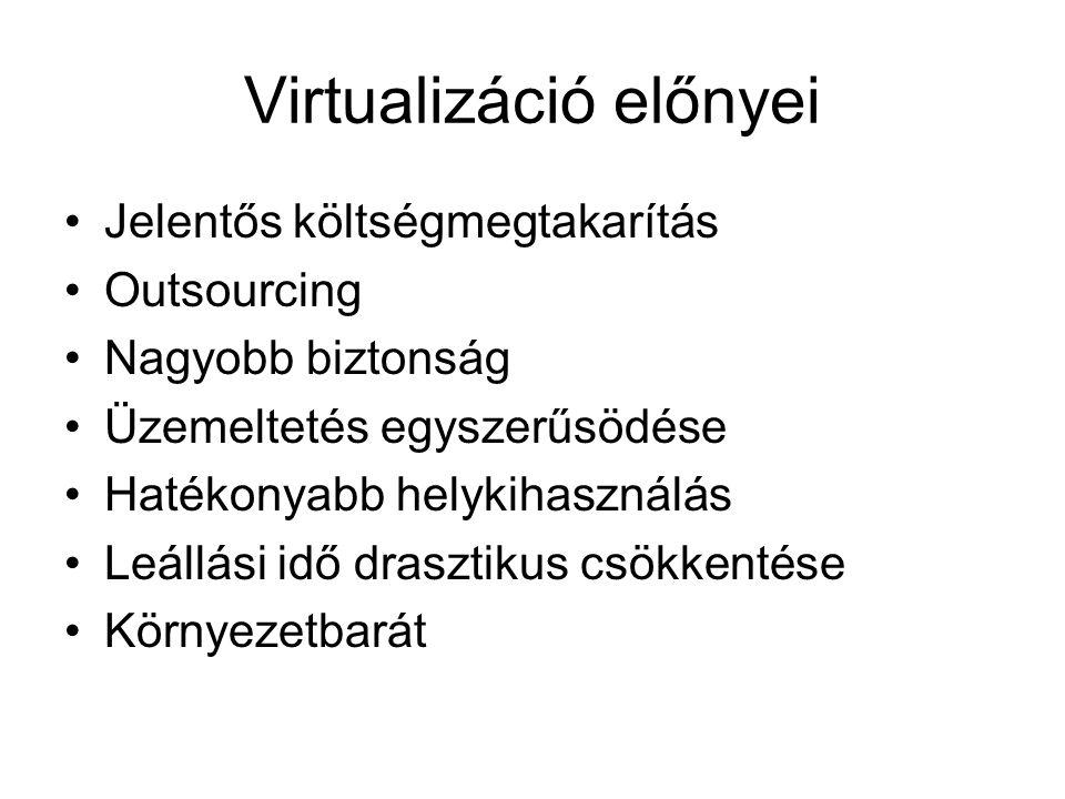 Virtualizáció előnyei