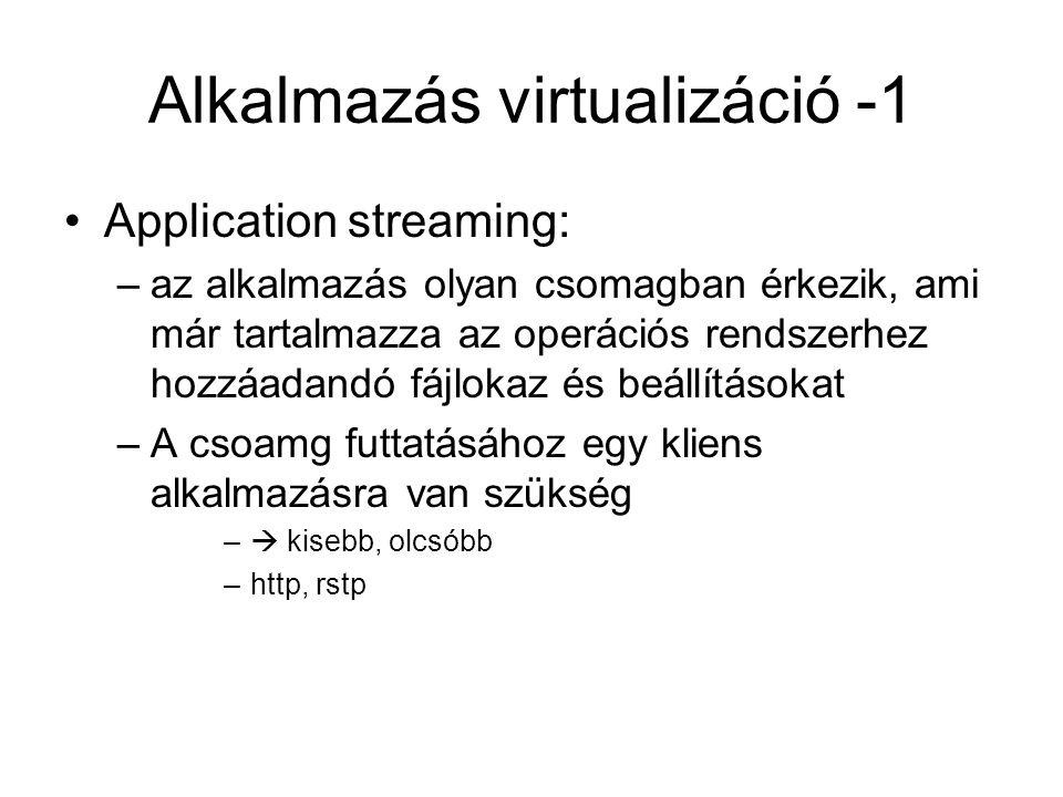 Alkalmazás virtualizáció -1