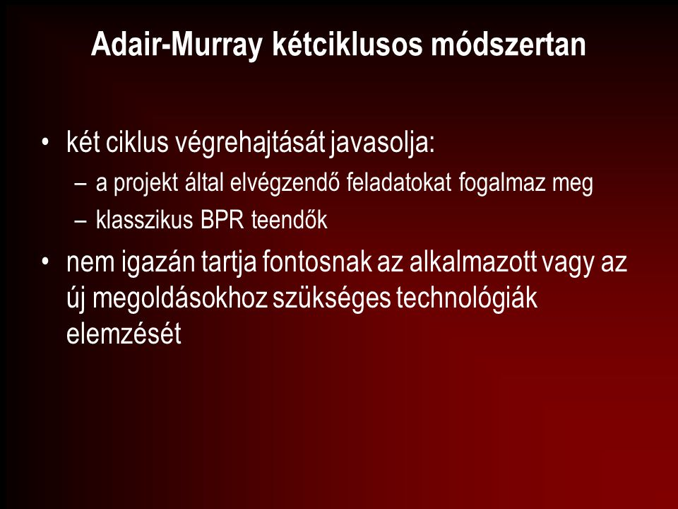 Adair-Murray kétciklusos módszertan