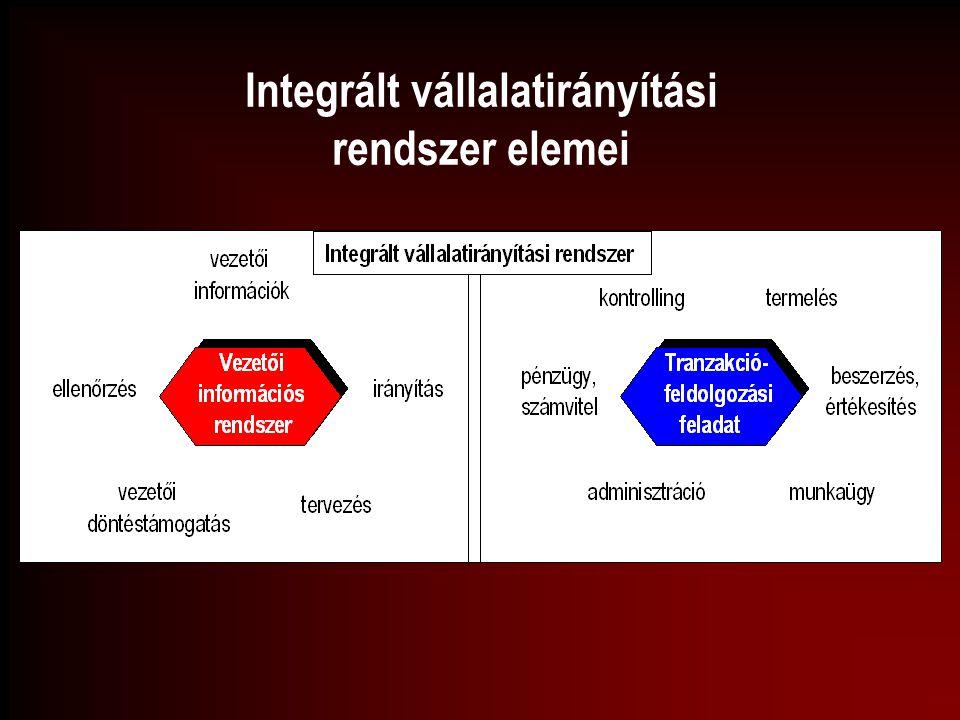 Integrált vállalatirányítási rendszer elemei