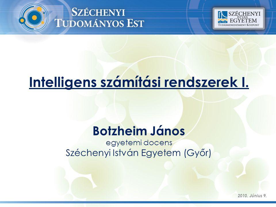 Intelligens számítási rendszerek I