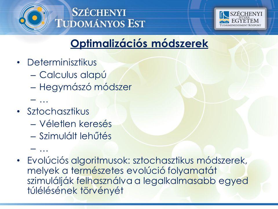 Optimalizációs módszerek