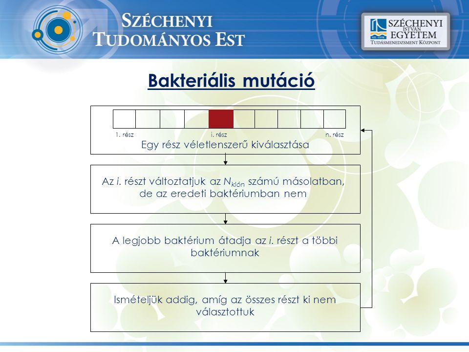 Bakteriális mutáció Egy rész véletlenszerű kiválasztása