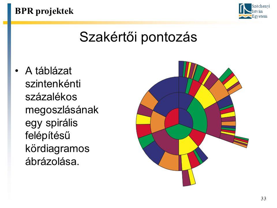 BPR projektek Szakértői pontozás.