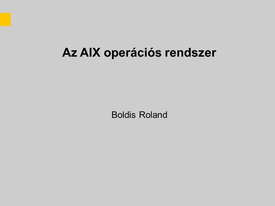 Az AIX operációs rendszer