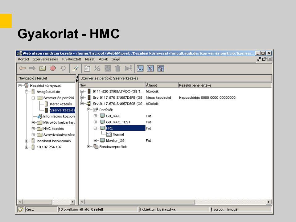 Gyakorlat - HMC