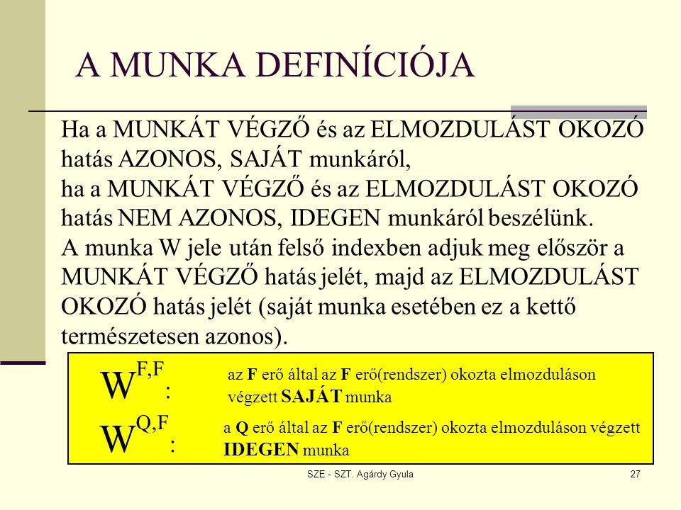 WF,F: WQ,F: A MUNKA DEFINÍCIÓJA