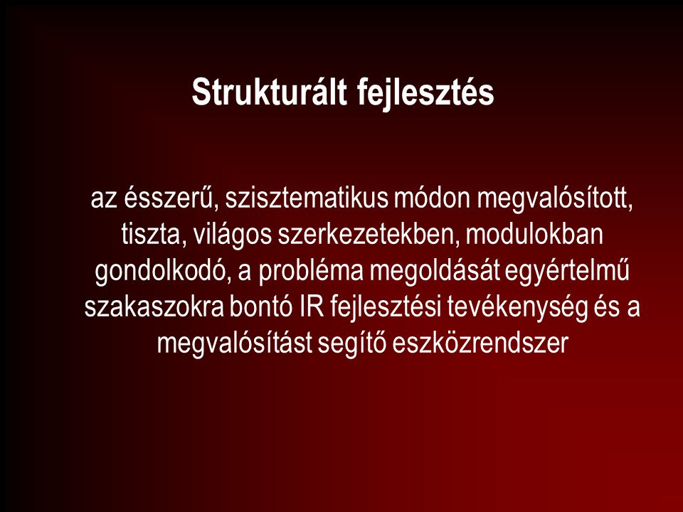 Strukturált fejlesztés