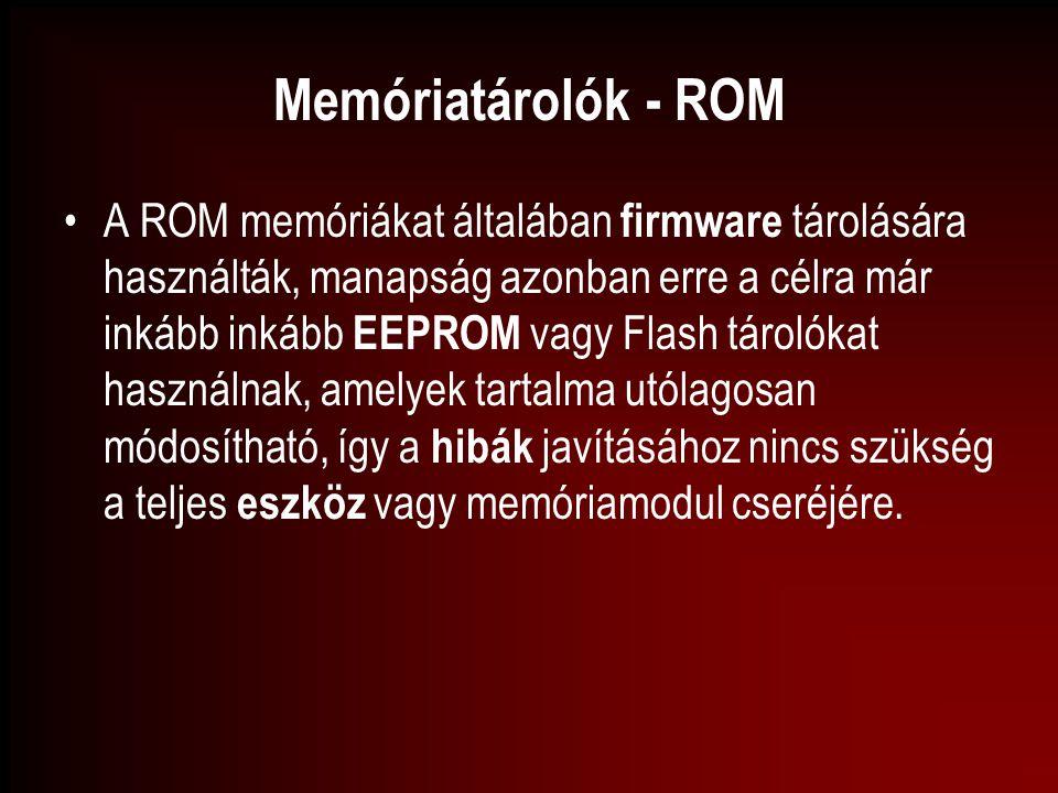 Memóriatárolók - ROM