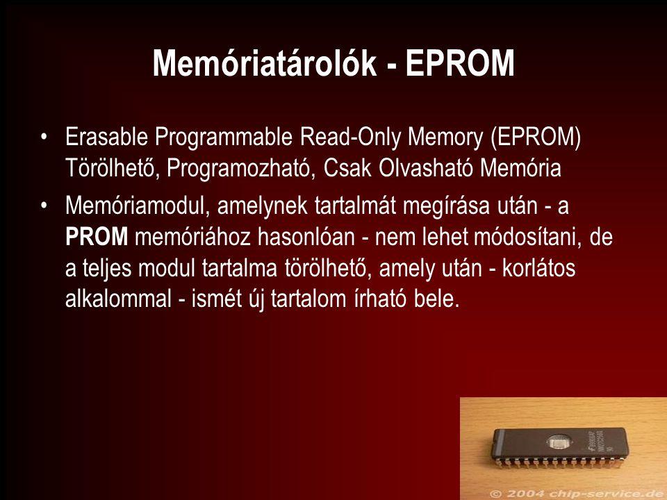 Memóriatárolók - EPROM