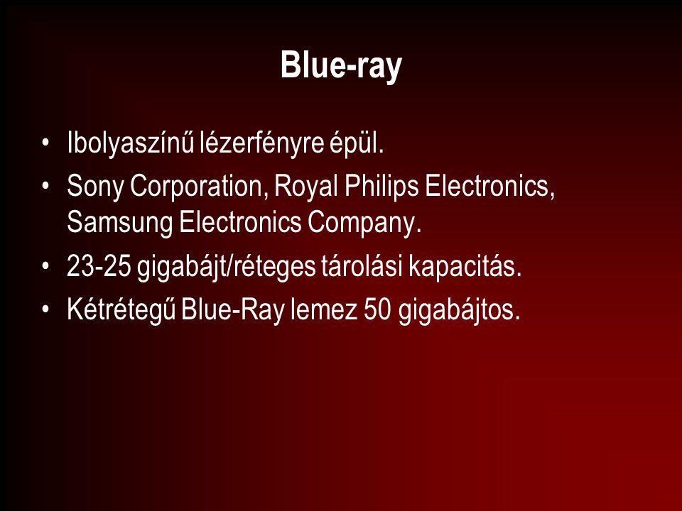 Blue-ray Ibolyaszínű lézerfényre épül.
