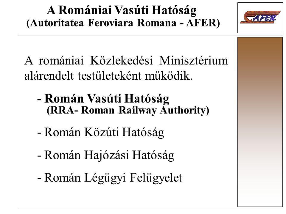 A Romániai Vasúti Hatóság (Autoritatea Feroviara Romana - AFER)