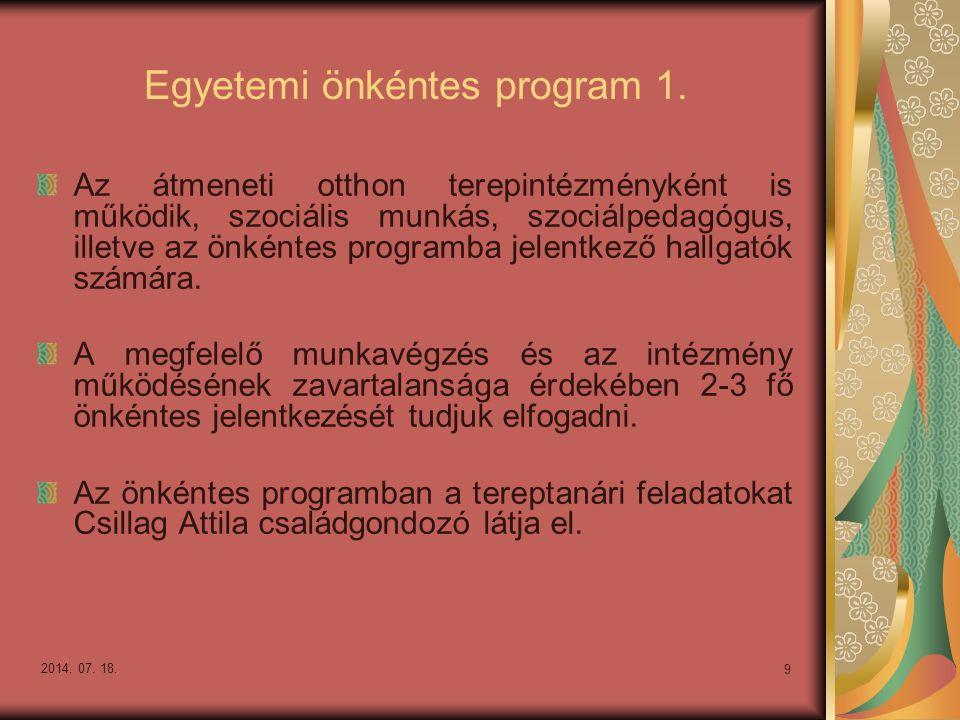 Egyetemi önkéntes program 1.