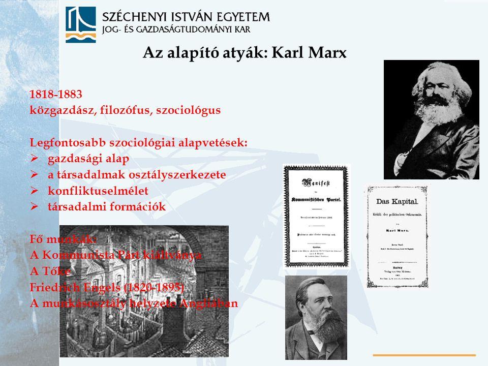 Az alapító atyák: Karl Marx