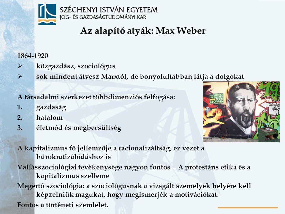 Az alapító atyák: Max Weber
