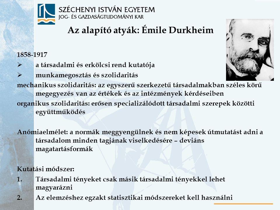 Az alapító atyák: Émile Durkheim