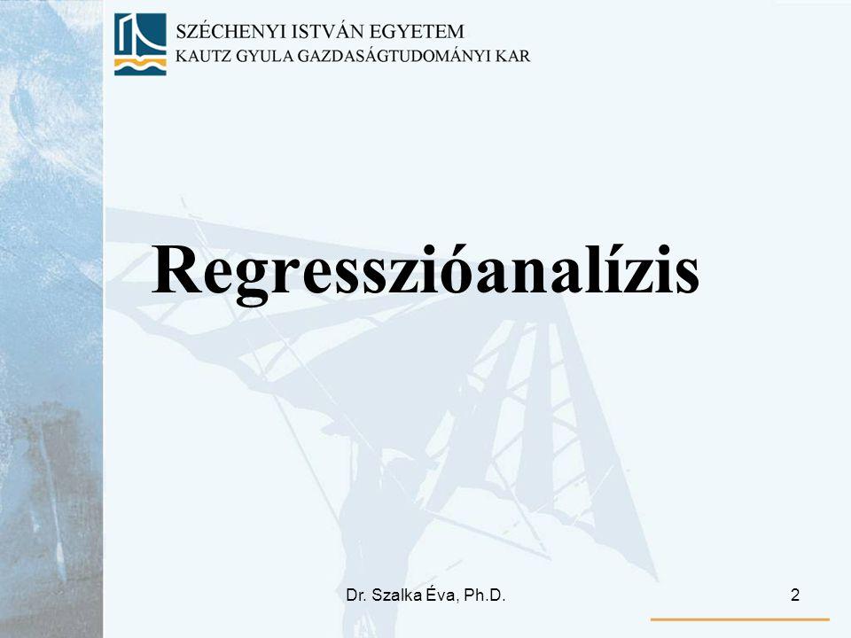 Regresszióanalízis Dr. Szalka Éva, Ph.D.