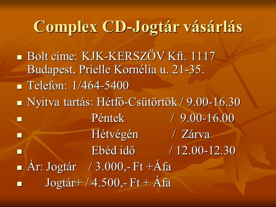 Complex CD-Jogtár vásárlás