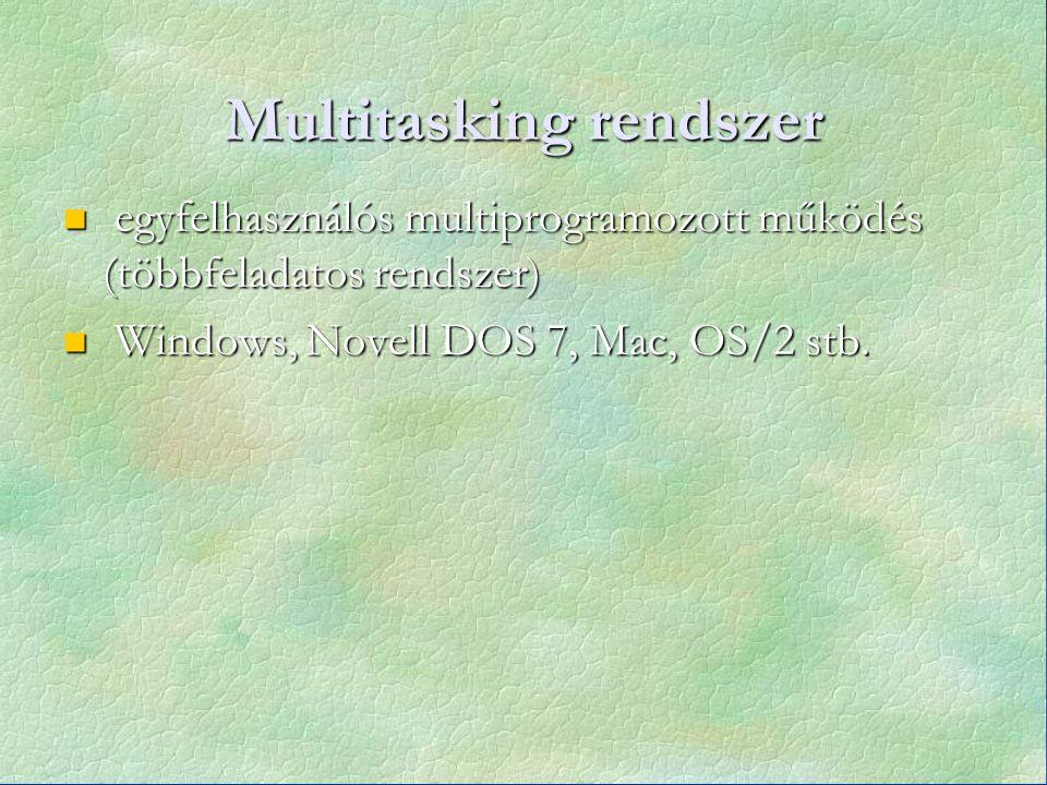 Multitasking rendszer