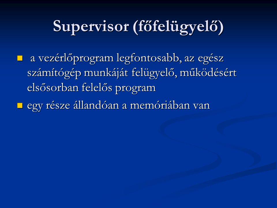 Supervisor (főfelügyelő)