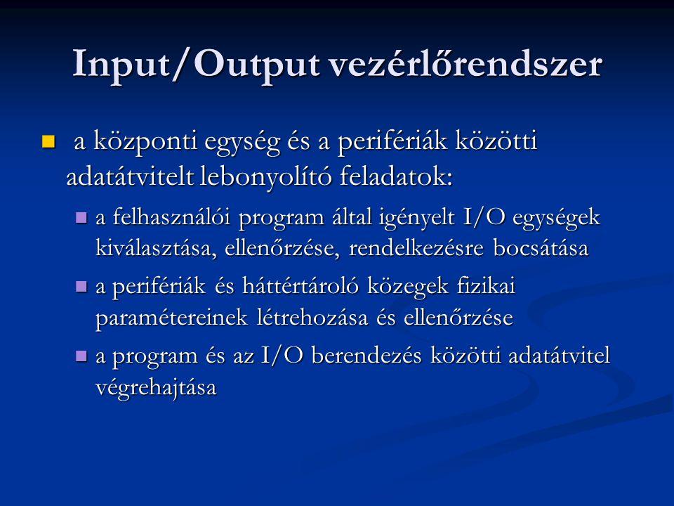 Input/Output vezérlőrendszer