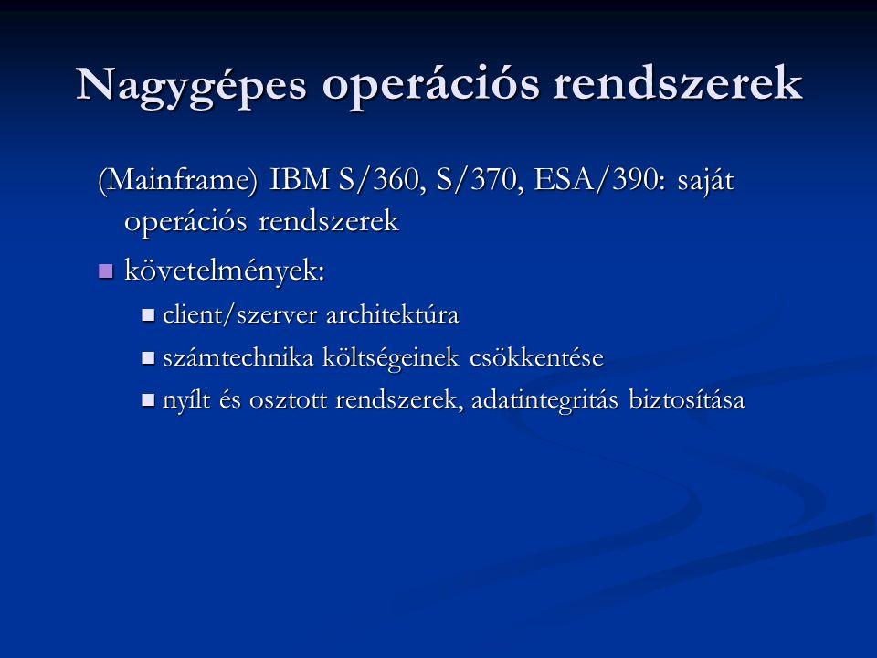 Nagygépes operációs rendszerek