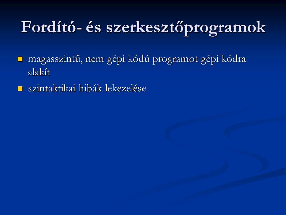 Fordító- és szerkesztőprogramok