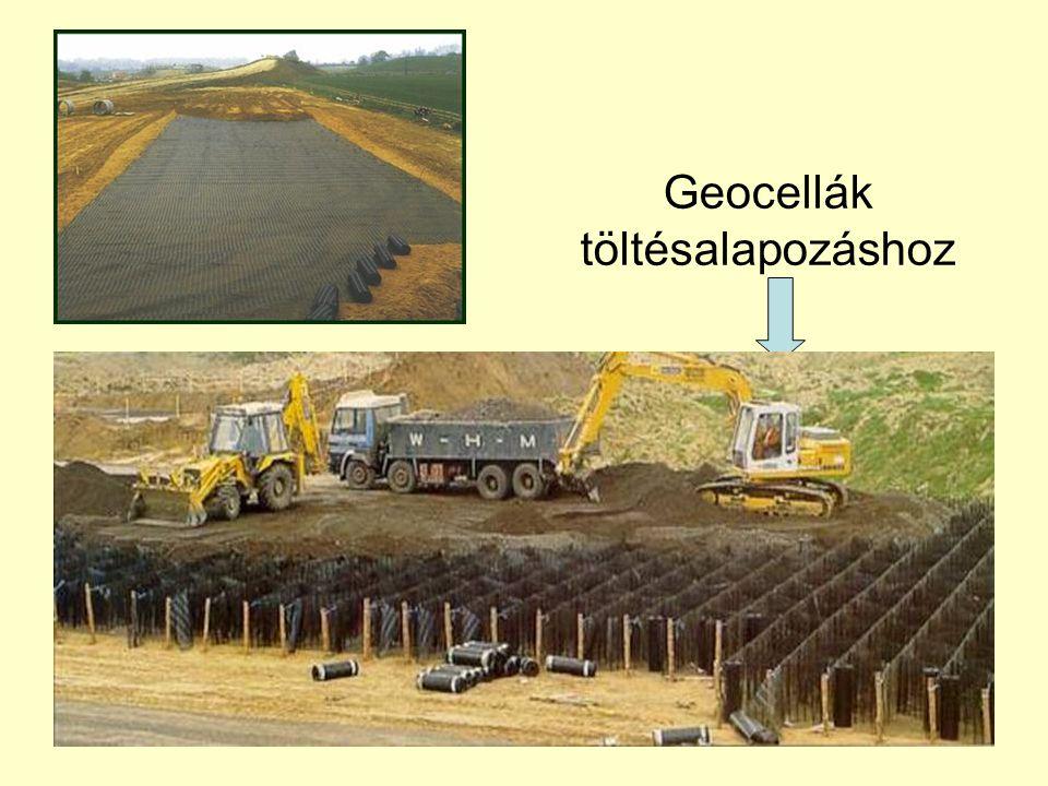 Geocellák töltésalapozáshoz