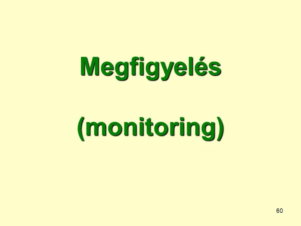 Megfigyelés (monitoring)