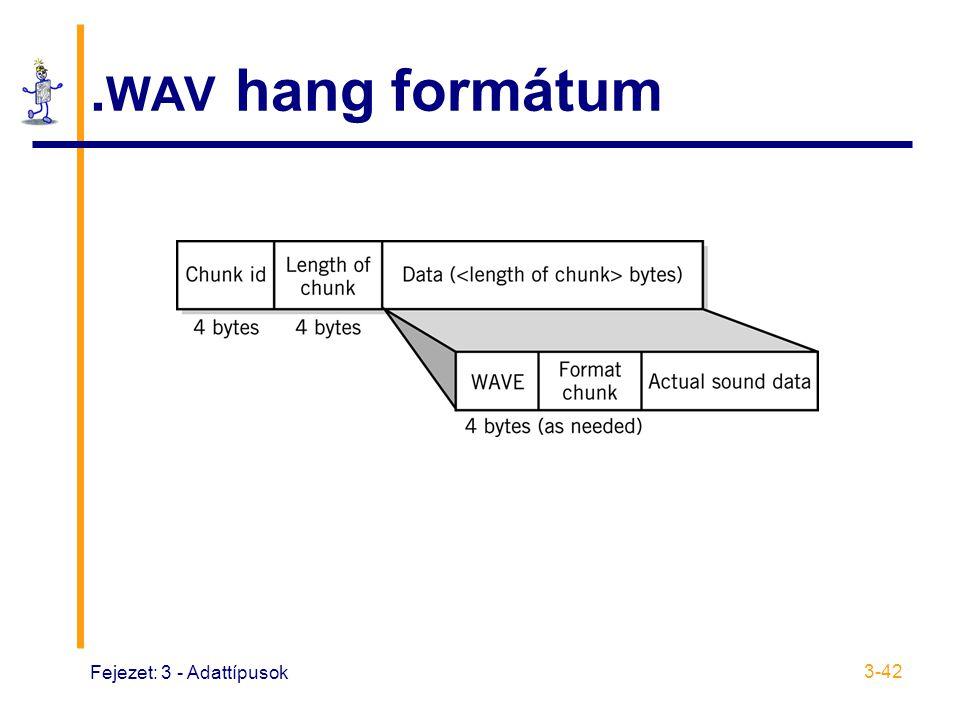 .WAV hang formátum Fejezet: 3 - Adattípusok