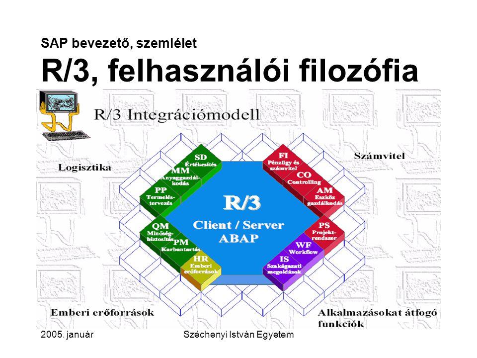 SAP bevezető, szemlélet R/3, felhasználói filozófia
