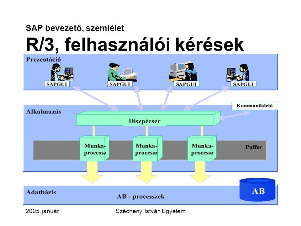 SAP bevezető, szemlélet R/3, felhasználói kérések